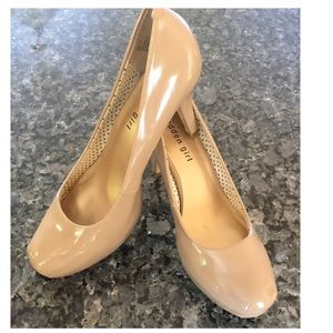 9870abd72988 Madden Girl Shoes - Madden Girl Getta Patent Nude Stacked Pumps Heels